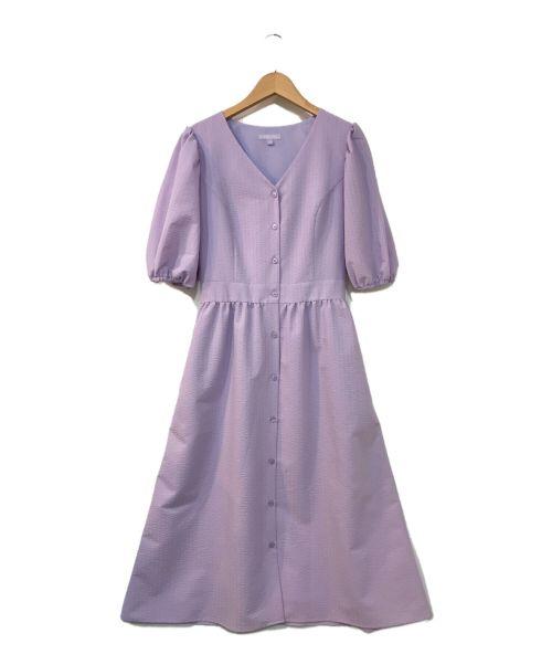 TOCCA(トッカ)TOCCA (トッカ) ベルテッドパフスリーブワンピース パープル サイズ:4の古着・服飾アイテム