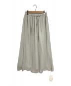 ()の古着「Crepeギャザーストレートスカート」 ライトグレー