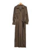 Lily Brown(リリーブラウン)の古着「レディーライクジャンプスーツ」|ベージュ