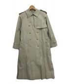 ()の古着「ライナー付きステンカラーコート」 ベージュ