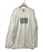 BRU NA BOINNE(ブルーナボイン)の古着「ジョナパンエクスプレスロンT」|ホワイト×グリーン
