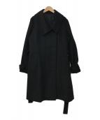 ()の古着「カシミヤコート」|ブラック