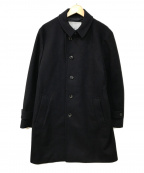 ROSSO(ロッソ)の古着「イタリアンメルトンステンカラーコート」|ネイビー