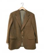 Burberry's(バーバリーズ)の古着「カシミヤアンゴラテーラードジャケット」|ブラウン