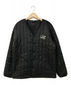 ()の古着「中綿カラーレスジャケット」|ブラック