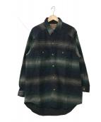()の古着「ブランケットジャケット」 ブルー×グリーン