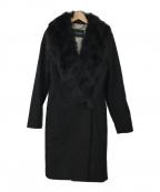 MAX&Co.(マックスアンドコー)の古着「フォックスファー付コート」 ブラック