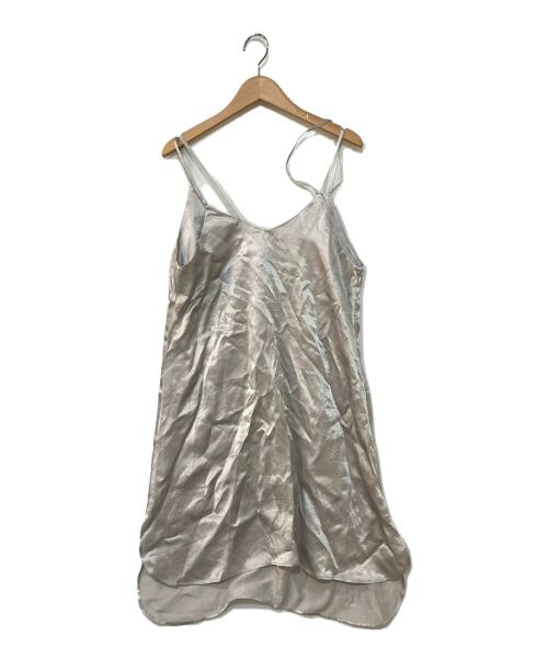Little suzie(リトルスージー)Little suzie (リトルスージー) サテンキャミソールワンピース シルバー サイズ:FREEの古着・服飾アイテム