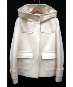 CROLLA(クローラ)の古着「メルトンフードコート」|ホワイト