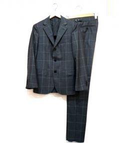 UNITED ARROWS TOKYO(ユナイテッドアローズ)の古着「ウィンドペンセットアップスーツ」 グレー