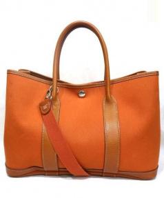 HERMES(エルメス)の古着「Garden Party bag TPM」|オレンジ
