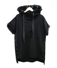 AULA(アウラ)の古着「スポンジスムースフードパーカー」|ブラック