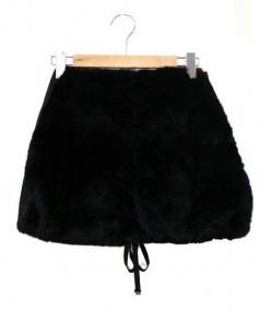 S Max Mara(エス マックスマーラ)の古着「ラビットファースカート」|ブラック