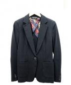 Paul Smith BLACK(ポールスミスブラック)の古着「ジャージージャケット」|ブラック
