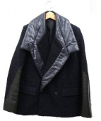 ALEXANDER WANG(アレキサンダーワン)の古着「ナイロンカラーデザインジャケット」|ネイビー