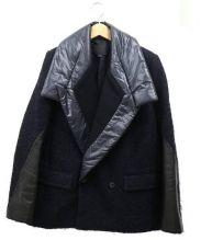 ALEXANDER WANG(アレキサンダーワン)の古着「ナイロンカラーデザインジャケット」 ネイビー