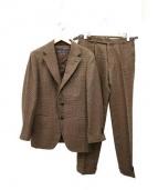 SOVEREIGN(ソブリン)の古着「ハウンドトゥース3Bスーツ」|ブラウン