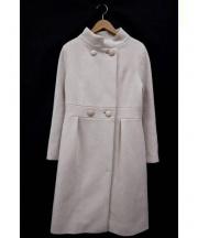 STRAWBERRY FIELDS(ストロベリーフィールズ)の古着「アンゴラオードリーウールコート」|ピンク