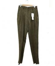 JOHN LAWRENCE SULLIVAN(ジョンローレンスサリバン)の古着「2タックテーパードパンツ」|オリーブ