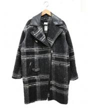 DIESEL(ディーゼル)の古着「ダブルライダースコート」|グレー×ブラック
