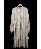 mina perhonen(ミナペルホネン)の古着「flow刺繍シルクワンピース」|ベージュ