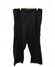 Yohji Yamamoto(ヨウジヤマモト)の古着「イージーワイドパンツ」 ブラック
