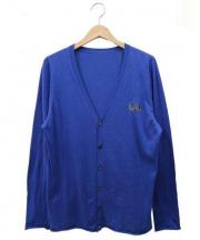 lucien pellat-finet(ルシアン・ペラフィネ)の古着「コットンカシミヤカーディガン」 ブルー