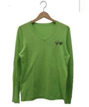 lucien pellat-finet(ルシアン・ペラフィネ)の古着「コットンカシミヤニット」 ライトグリーン