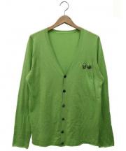 lucien pellat-finet(ルシアン・ペラフィネ)の古着「コットンカシミヤカーディガン」 ライトグリーン
