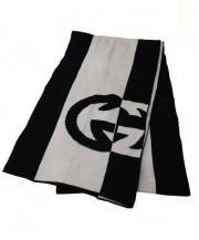 GUCCI(グッチ)の古着「ウールマフラー」 ホワイト×ブラック