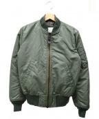 Pherrow's(フェローズ)の古着「MA-1ジャケット」|オリーブ