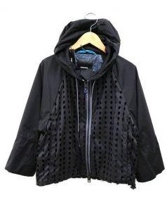 DIESEL(ディーゼル)の古着「パンチドナイロンブルゾン」|ブラック