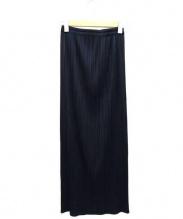 PLEATS PLEASE(プリーツ プリーズ)の古着「プリーツスカート」|ネイビー