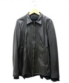 SRIVER(スリヴァー)の古着「シングルライダースジャケット」|ブラック