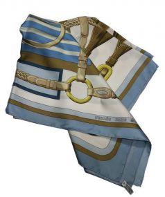 HERMES(エルメス)の古着「シルクスカーフ」|スカイブルー