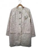 LAISSE PASSE(レッセパッセ)の古着「ビジューボタンレースコクーンコート」