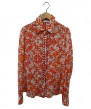 Emilio Pucci(エミリオプッチ)の古着「シルク混ビジューブラウス」|オレンジ