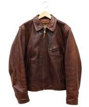 IOU(アイオウユー)の古着「シングルレザージャケット」 ブラウン