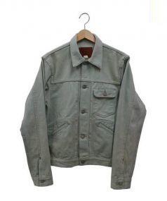 RRL(ダブルアールエル)の古着「カラーデニムジャケット」 ライトグリーン