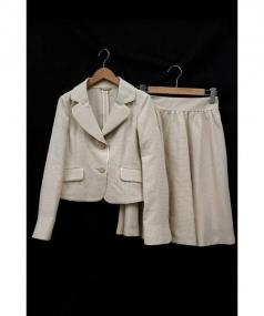 Harrods(ハロッズ)の古着「スカートスーツ」 グレージュ