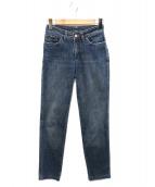 GUCCI(グッチ)の古着「G刺繍デニムパンツ」|ブルー