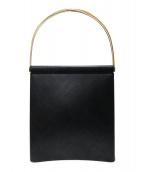 Cartier(カルティエ)の古着「トリニティレザーハンドバッグ」|ブラック×ゴールド