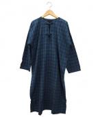 45R(45アール)の古着「長袖ワンピース」|ネイビー
