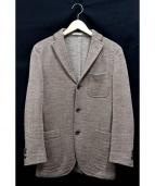 BOGLIOLI(ボリオリ)の古着「ヘリンボーンウールジャケット」|ブラウン