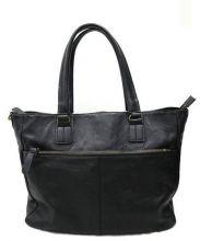 COMPLETE PLUS(コンプリートワークス)の古着「レザートートバッグ」|ブラック