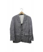 Brooks Brothers(ブルックスブラザーズ)の古着「リネンテーラードジャケット」 ネイビー×グレー