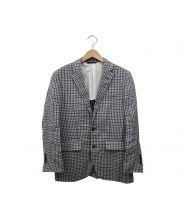 Brooks Brothers(ブルックスブラザーズ)の古着「リネンテーラードジャケット」|ネイビー×グレー