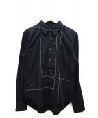 BLACK COMME des GARCONS(ブラックコムデギャルソン)の古着「デザインシャツ」|ブラック