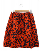 JIL SANDER NAVY(ジルサンダー ネイビー)の古着「総柄スカート」