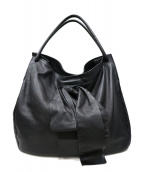 MIU MIU(ミュウミュウ)の古着「オールレザートートバッグ」|ブラック